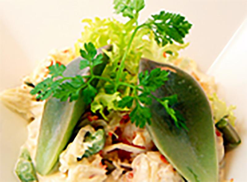 グラパラと蟹・海老のサラダ