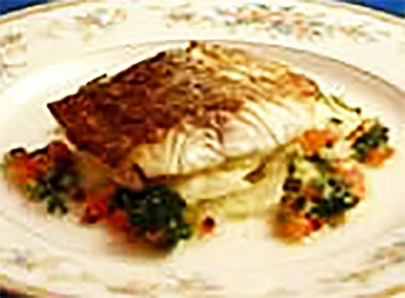 グラパラと真鯛の香草風味